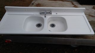 Vintage Farm Porcelain Double Sink photo