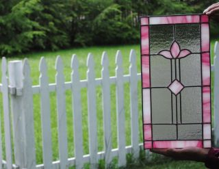 Stained Glass Window Door Panel - Handmade Leaded Glass Sidelight photo