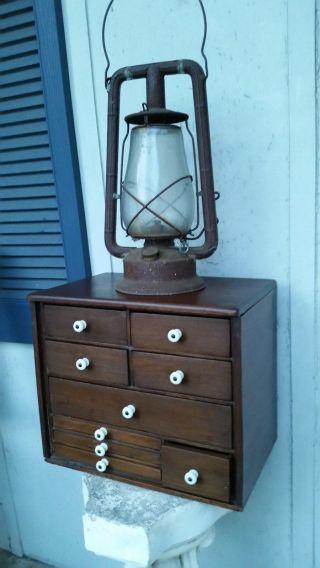 Antique Wood Box W/porcelain Handles,  1800 ' S - photo