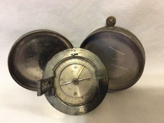 Vintage Pocket Compass With Integral Sight & Case - France photo