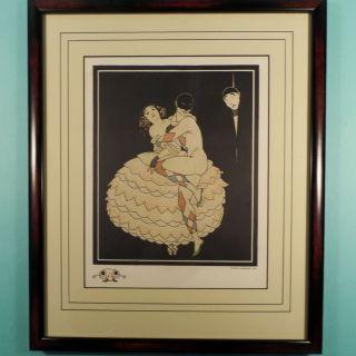 George Barbier Pochoir Karsavina Nijinsky Ballet Russe Fokine 1914 Carnaval photo