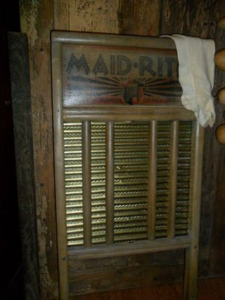 Primitive Old Washboard,  Old Stockings,  Brass & Wood