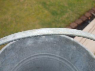 Vintage Galvanized Metal Bucket Heavy Wire Bale Handle photo