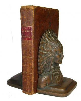 1833 Indian Mound Builders Paleo Archaeology Artifacts Ohio Mississippi Basins photo