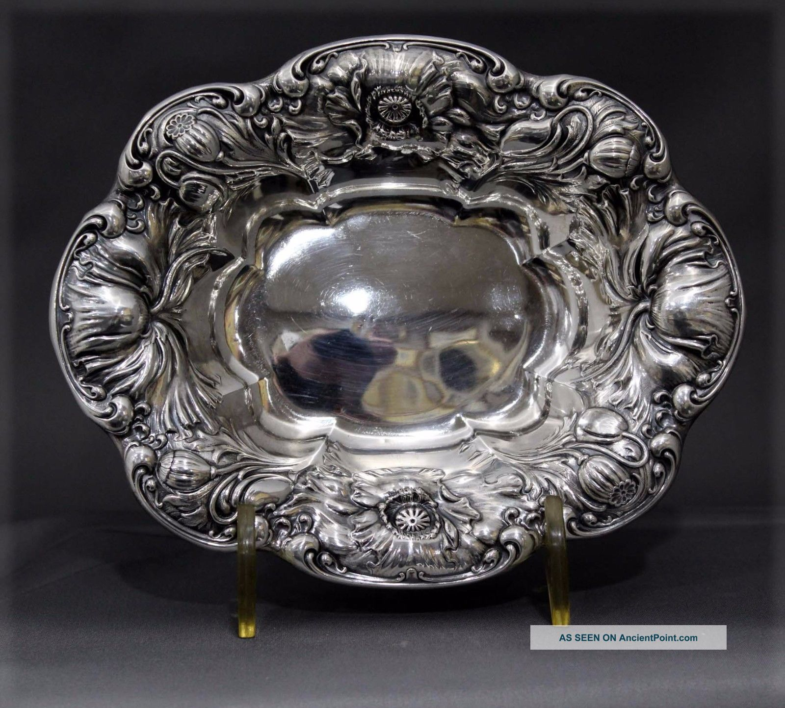 Vintage Sterling Silver Wallace Art Nouveau Candy Nut Bowl 103.  2 G Nr Bowls photo