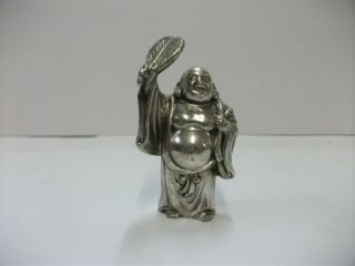 God Of Budai Of Silver900.  One Of Japanese Seven Lucky Gods.  Fugaku ' S Work photo