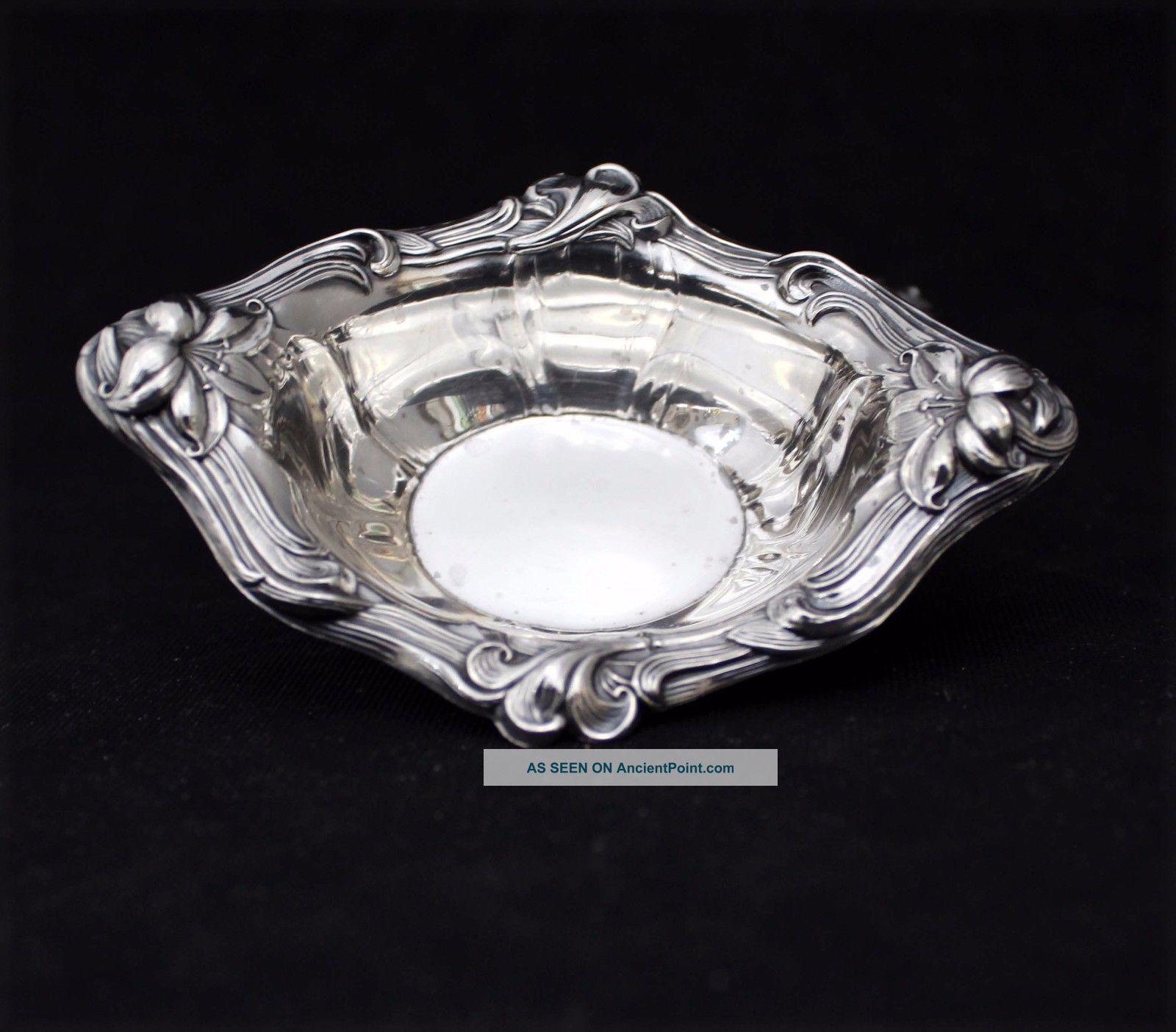 Vintage Sterling Silver Watson Co Oval Salt Cellars Nut Bowls 48.  4 G Nr Bowls photo