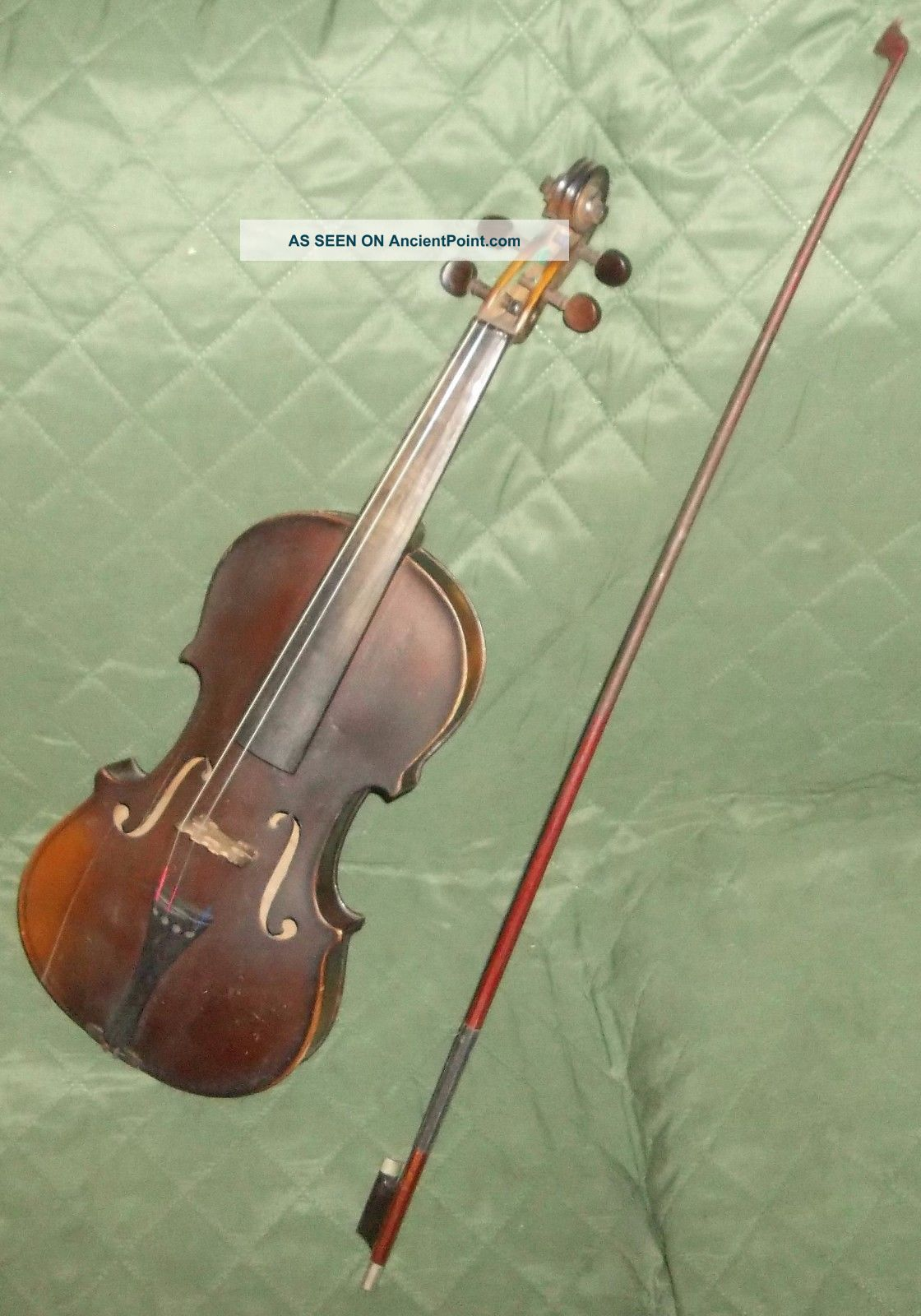 Vintage Old Antique Estate National Institute First Violin Needs Some Tlc And. String photo