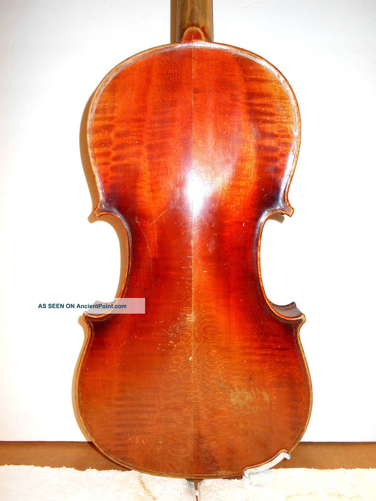 Vintage Old Antique Curly Maple 2 Pc.  Back Full Size Violin - String photo