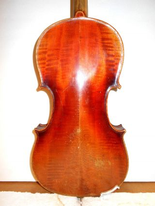 Vintage Old Antique Curly Maple 2 Pc.  Back Full Size Violin - photo