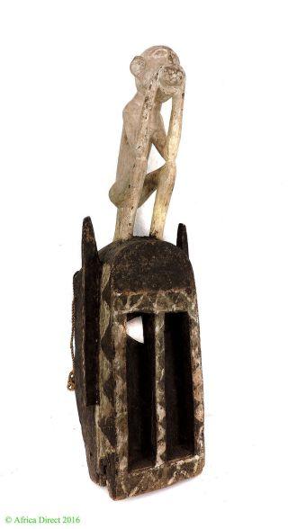 Dogon Mask White Monkey Omono Mali African Art 28 Inch photo