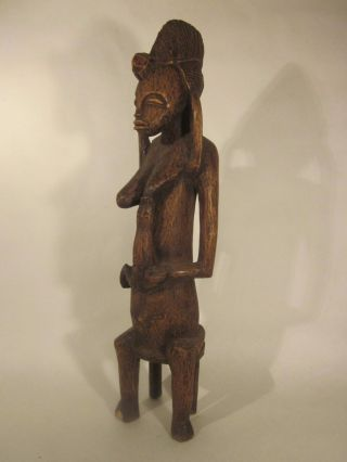 Senufo Fertility Figure,  Mid - Century,  Carved On Heavy Wood,  Ivory Coast,  Mali photo