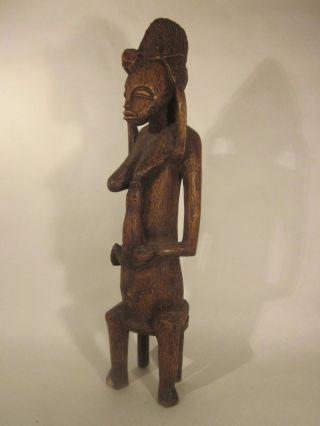 Senufo Fertility Figure,  Mid - Century,  Carved On Heavy Wood,  Ivory Coast,  Mali photo