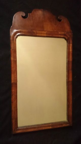 Early 18th C.  Antique English Queen Anne Walnut Mirror C.  1710 photo
