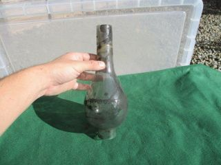 Vintage Glass Chimney Oil Lamp Shade Antique Old 10.  5