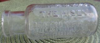 Embossed: Alvathunder.  The Hisey Dental Mfg.  Co.  St.  Louis.  U.  S.  A.  Bottle 1890.  S photo