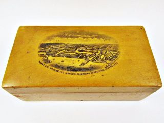 1893 Columbian Expo Chicago World ' S Fair Souvenir Spool Thread Box Sewing Kit photo