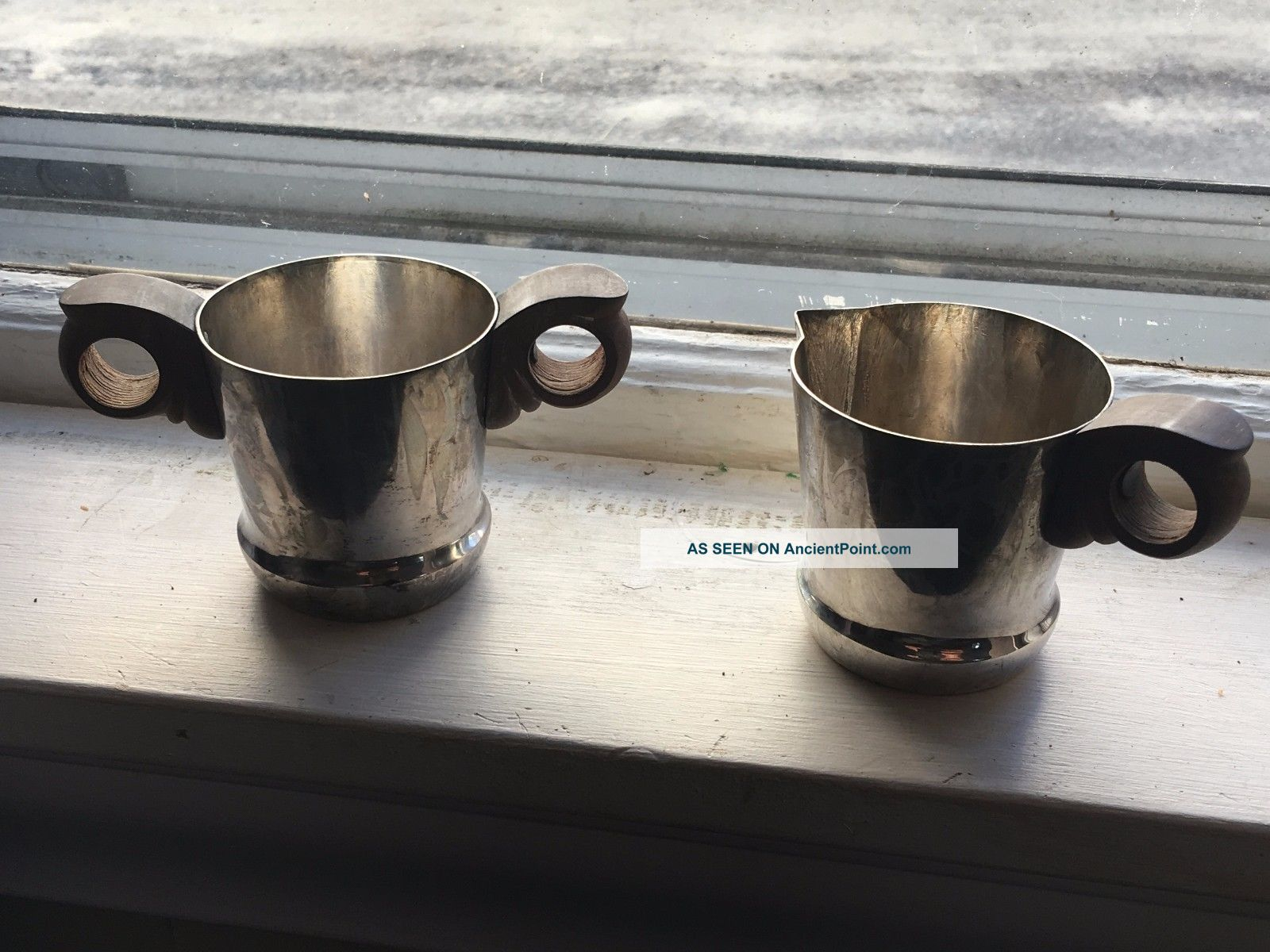 Taxco Mexico Antique 925 Sterling Silver Tea Cup And Pitcher Hallmarked Teacup Cups & Goblets photo