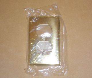 Brass Doulble Electric Outlet Cover In Package - Mulberry Union Nj photo