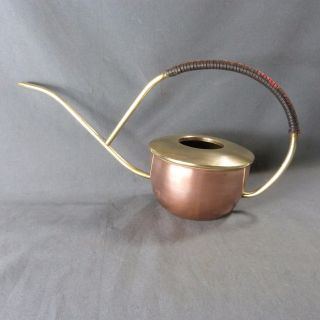 Antique Vintage Copper Brass Indoor Outdoor Watering Can photo