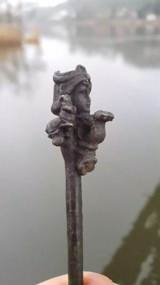 Ancient Bronze Athens Greek Stick photo