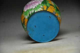 Vintage Chinese Cloisonne Enamel Lidded Jar Floral&bird photo
