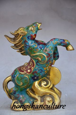 Exquisite Decoration Cloisonne Handwork Lifelike Horse Statue photo