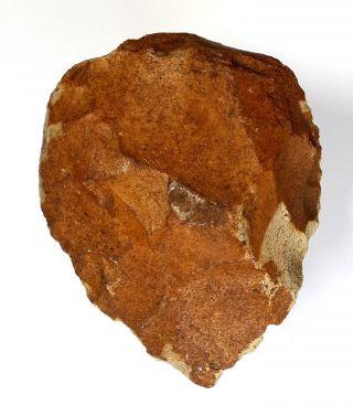 327 Gram Acheulean Flint Hand Axe Neanderthal Paleolithic Tool photo