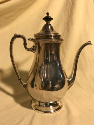 Antique/vintage Tea Pot S.  P.  C. ,  By Crescent Silver Mfg Co 9