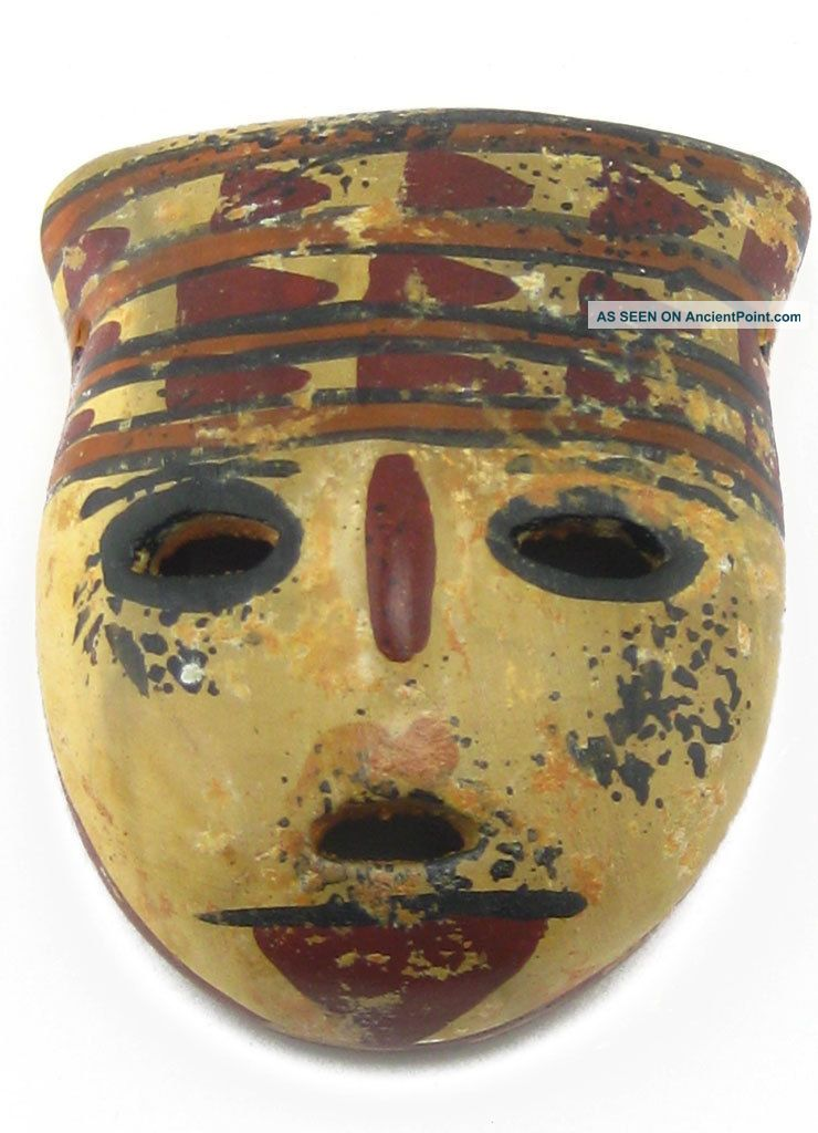 Across The Puddle Pre - Columbian San Agustin Headdress Mask (s) Reproduction Latin American photo