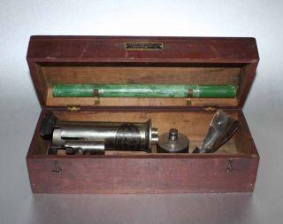 Antique Ebulliometer Wine Testing Kit In Wood Box photo