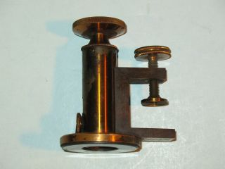 1800s Queen & Co.  Philadelphia Brass Microtome / Microscope Part? Vhtf photo