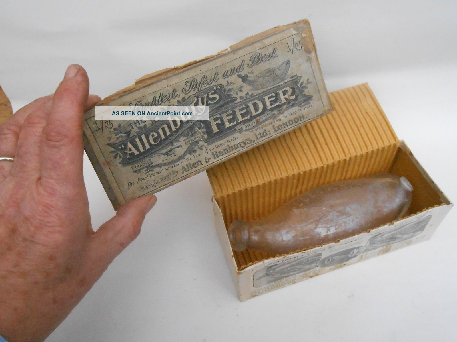 Early 20th C.  Boxed Allenburys Feeder Baby Feeding Bottle Other Medical Antiques photo