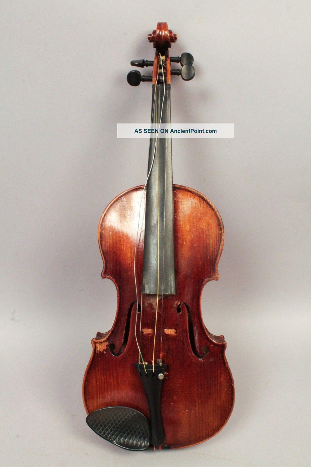 Estate Found Vintage 1922 Full Size Violin Carlo Micelli W Bow & Hard Case String photo
