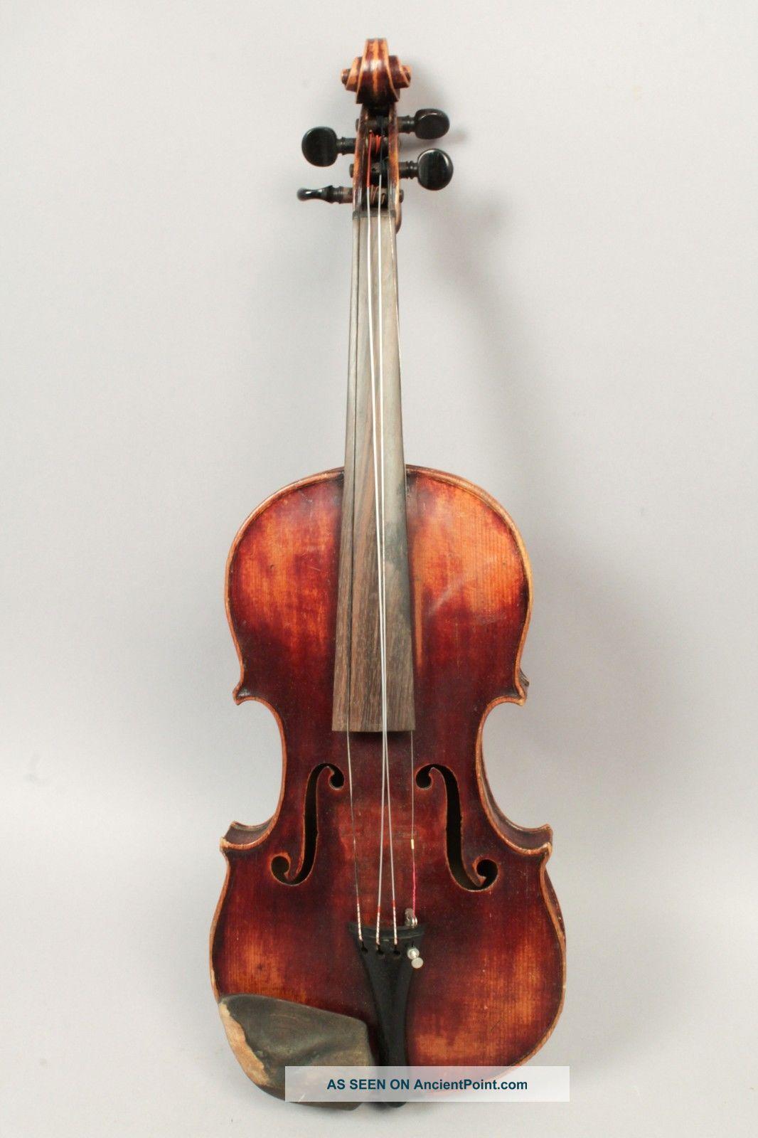 Antique 1824 Czech Violin Signed Emanuel Adam Homolka W Bow & Case String photo