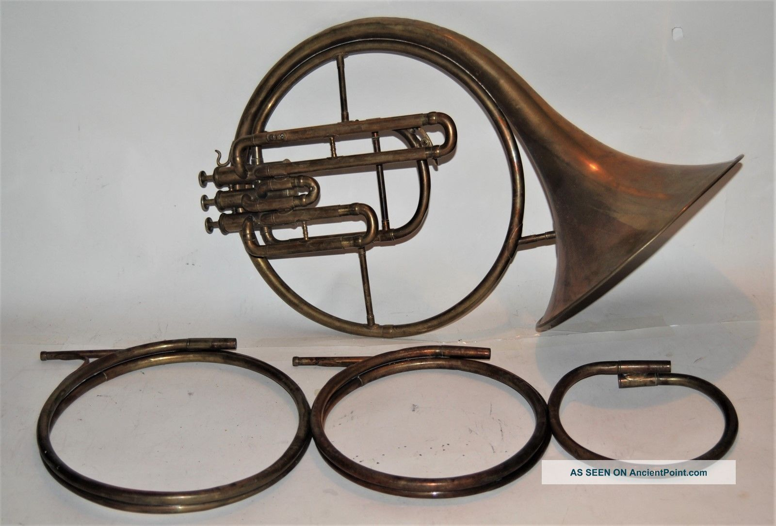 French Horn 1905 From J W Petter With 3 Crooks Brass photo