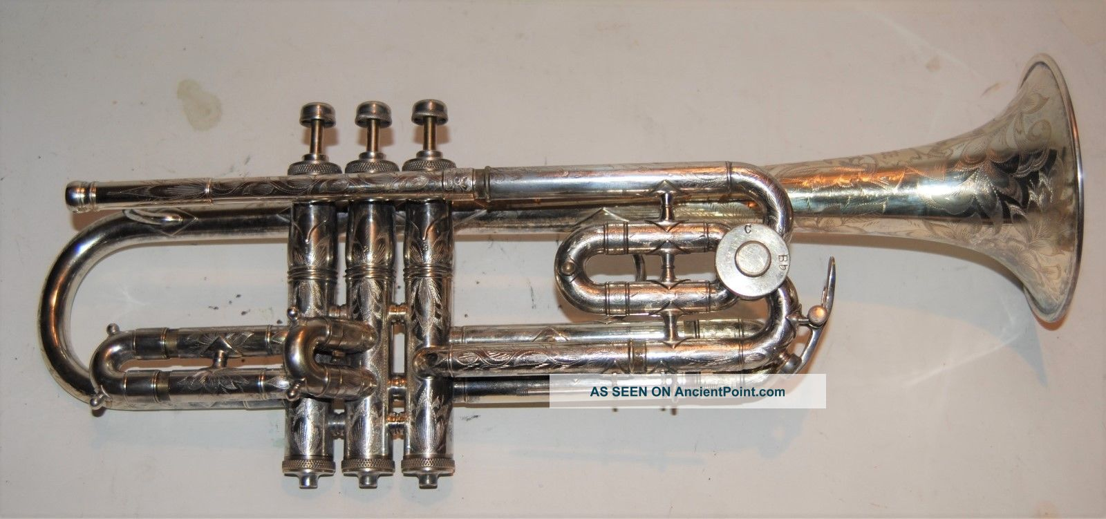 King Trumpet Master Model Bb C Valve Highly Engraved Front Bell To Lead Pipe Brass photo