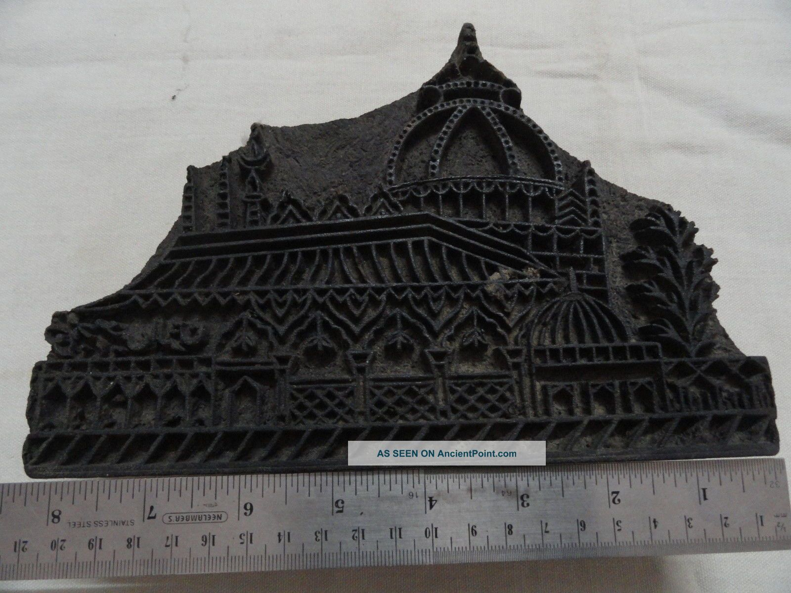 Islamic Antique Mecca Madina Hand Carved Wooden Textile Printing Stamp W753 Islamic photo