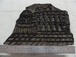 Islamic Antique Mecca Madina Hand Carved Wooden Textile Printing Stamp W755 photo