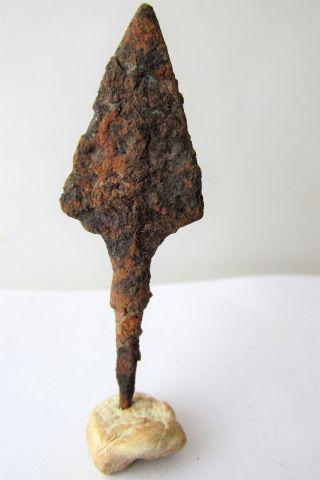 Ancient Late Roman/early Byzantine Iron Arrow - Head photo