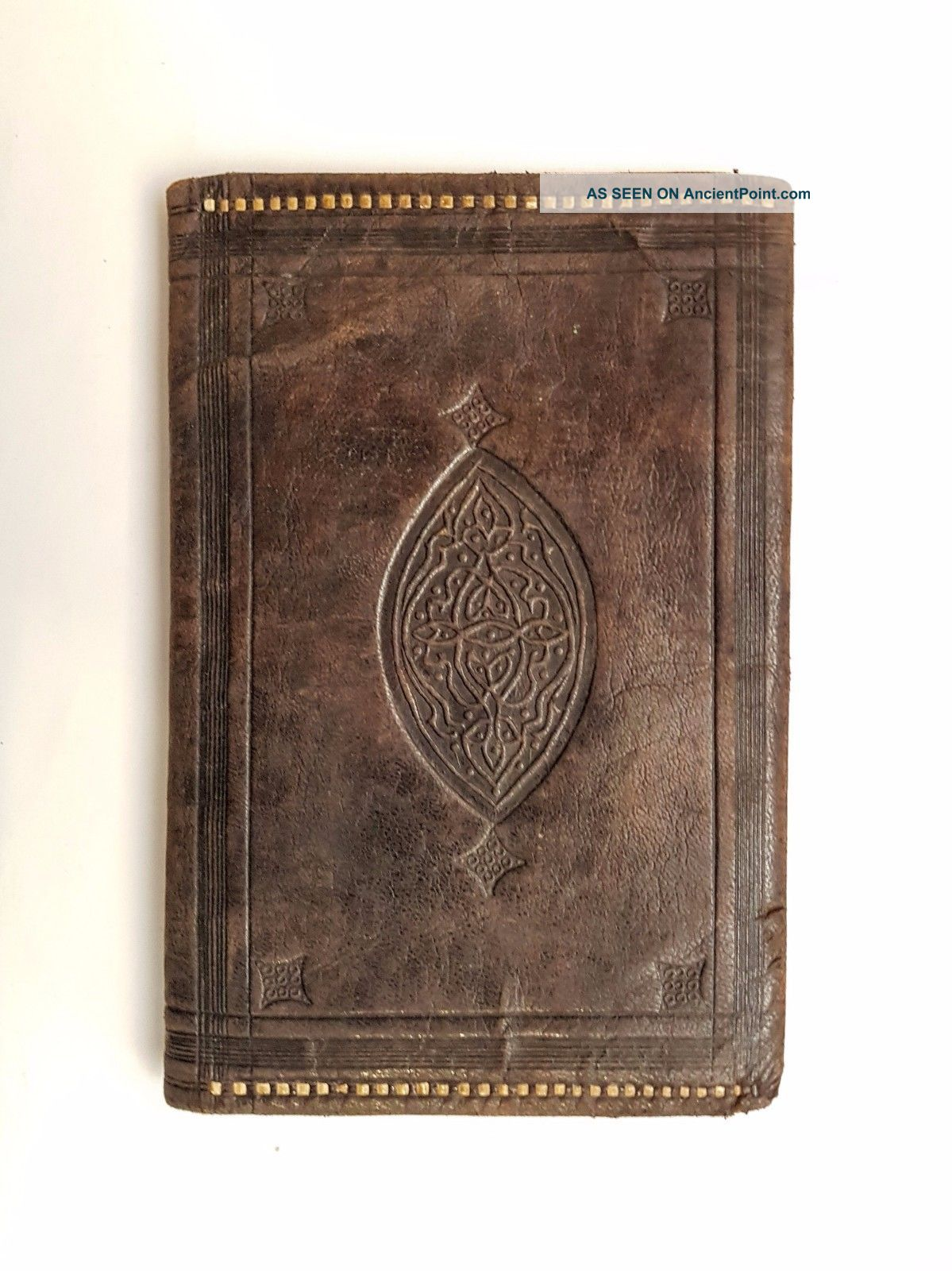 Old True Antique Ottoman Empire Islamic Turkish Leather Wallet 1900s Islamic photo