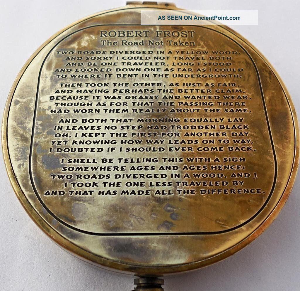 Nautical Vintage Robert Frost Poem Antique Compass C - 3142 See more Vintage Antique Robert Frost Poem Compass. C-3... photo