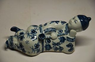 Chinese Porcelain Handwork Carved People Statue photo