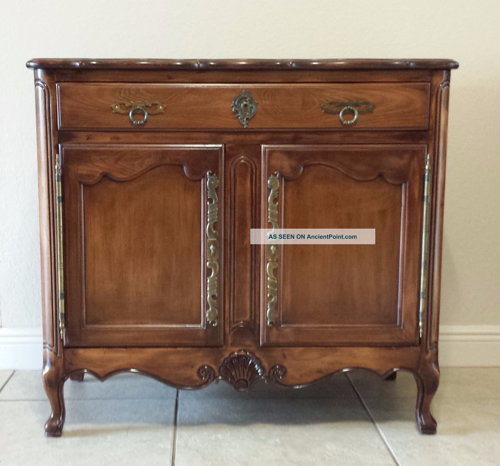 French Provincial Buffet/ Cabinet Post-1950 photo
