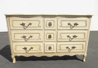 Vintage French Provincial Triple Dresser By Chateau Provincial photo