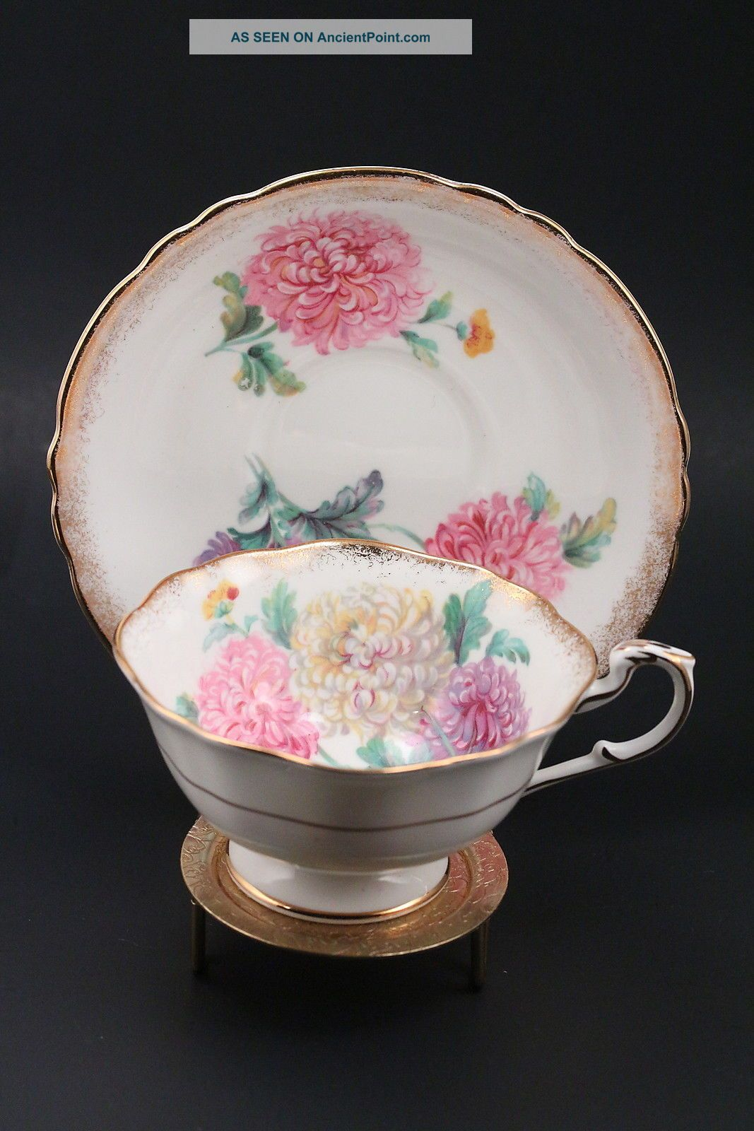 Paragon Floral Gold 22k Tea Cup By Appointment Of Her Majesty The Queen England Cups & Saucers photo
