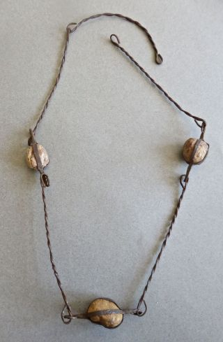 "Antique Dogon Iron & ""ancestor"" Stone Necklace For Spiritual Leaders,  Elders. photo"