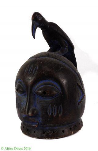 Yoruba Gelede Mask With Bird Headdress Nigeria African Art Was $390 photo