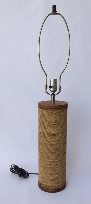 Vintage Gregory Van Pelt Cardboard Lamp Mcm 70 ' S Modern Frank Gehry Era photo