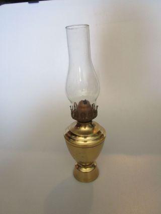 Pretty Brass Oil Lamp With Globe photo